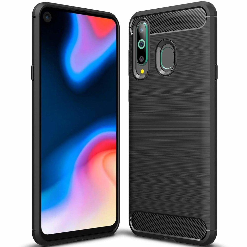 huge discount a8f17 7de32 Carbon Case Flexible Cover TPU Case for Huawei Honor 20 Lite black
