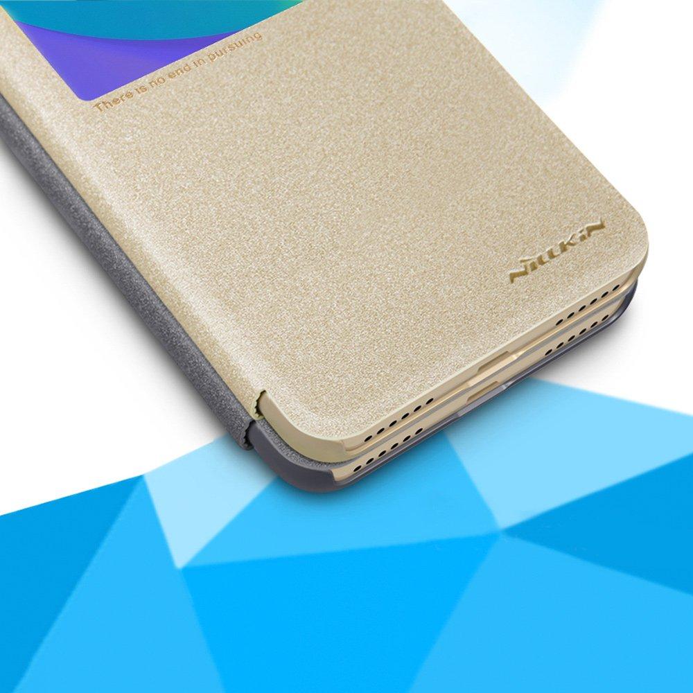 Nillkin Sparkle Leather Cover Flip Book Case For Xiaomi Redmi Note 5a Grey Tam Prime Dark