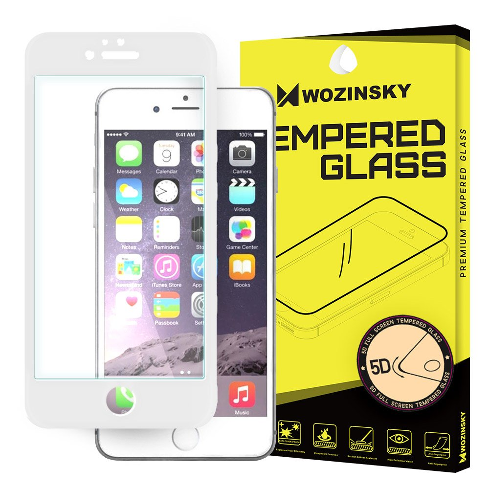 sports shoes 80013 8a355 Wozinsky PRO+ Tempered Glass 5D Full Glue Super Tough Screen Protector Full  Coveraged with Frame for iPhone 6S / 6 white