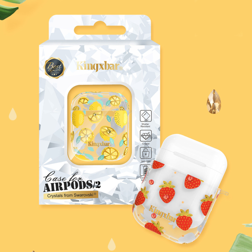 Kingxbar AirPods Case Silicone Protective Box for AirPods headphones Gold Marble