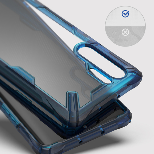 Ringke Fusion X durable PC Case with TPU Bumper for Huawei P30 Pro blue (FXHW0016)