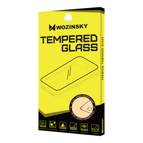 Wozinsky Tempered Glass Full Glue Super Tough Screen Protector Full Coveraged with Frame Case Friendly for Oppo Reno 6.6'' black