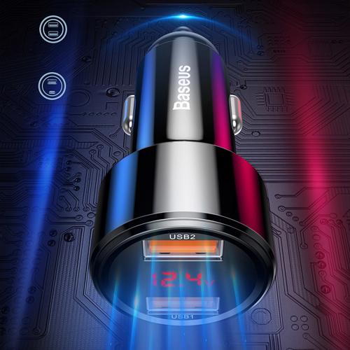 Baseus Magic Series Dual QC - Autoladegerät Quick Charge 3.0 2x USB 45W 6A rot (CCMLC20A-09)