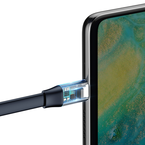 Baseus Simple Flachkabel USB / USB-Kabel Typ C SuperCharge 5A 40W Quick Charge 3.0 QC 3.0 23cm gold (CATMBJ-BV3)