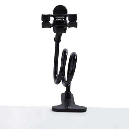 Remax Lazy Stand RM-C22 Clip Halter Desktop Halterung für Smartphone schwarz