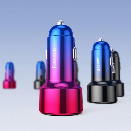 Baseus Magic Series Dual QC - ładowarka samochodowa Quick Charge 3.0 2x USB 45W 6A czerwony (CCMLC20A-09)